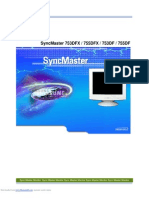 User Manual for Monitor Samsung SyncMaster 755 Dfx