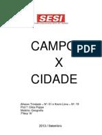 Campo X Cidade