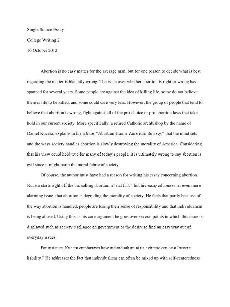 single source essay