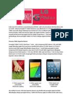 LG G Pad 8.3, Saingan Berat Google Nexus 7 Dan Apple iPad Mini