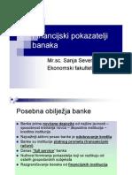Financijski pokazatelji  banaka
