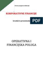 Fiksni operativni  troškovi i stupanj  operativne poluge