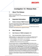 TEMS Investigation 15.1 Release Note