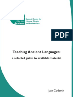 Teaching Ancient Languages