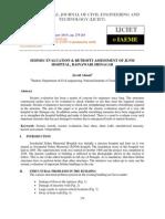 Seismic Evaluation & Retrofit Assessment of Jlnm Hospital, Rainawari Srinaga