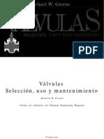 Válvulas selección uso y mantenimiento
