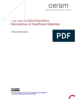 The Role of Zeta Potential in Manufacture of Healthcare Materials