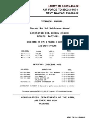 TM 9-6115-464-12 MEP-004A, MEP-103A, MEP-113A | Alternating