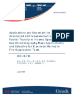 Applications and Uncertainties Associated With Measurements Using FTIR Spectrometry