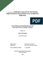 Teza Kornienko - System Identification Approach for Determining Flight Dynamical Characteristics of an Airship from Flight Data.pdf
