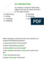 Copy of Test Construction