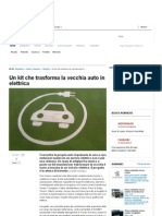 Un Kit Che Trasforma La Vecchia Auto in Elettrica - Repubblica.it