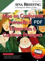 Mise en Conformite Annuelle des Entreprises a Capitaux Etrangers (CB 2012 01/02)