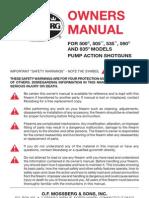 Mossberg 500 Shotgun Owners Manual