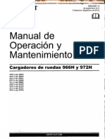 Manual Operacion Mantenimiento Cargador 966h 972h Caterpillar