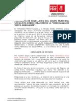 10-09-2013-Creación Ordenanza Municipal Venta Ambulante