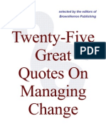 25 Quotes on Managing Change