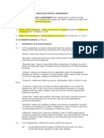 director service agreement free sample