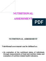 (2) Nutritional Assessment