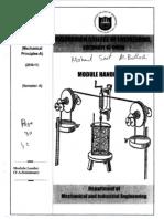 Caledonia Dept of Mechanical & Industrial Engineering (Module Handbook & Assignment)