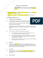 employment contract free sample