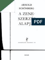 A.schoNBERG Zeneszerzes Alapjai