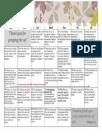 Prayer Calendar October 2013