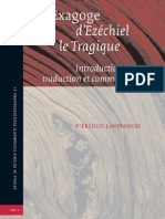 130104886 Studia in Veteris Testamenti Pseudepigrapha 21 Pierluigi Lanfranchi L Exagoge d Ezechiel Le Tragique Introduction Texte Traduction Et Commentair