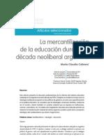 Cabrera Mercantilizacion en Discusiones LFE