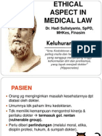 Ethical Aspect in Medical Law Perbaikan