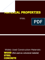 Material and Sectional Properties - Steel