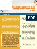Sexual and Reproductive Health and Rights of Women in Nepal (SRHR)