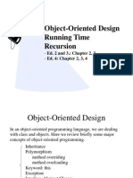 Object-Oriented Design Running Time Recursion
