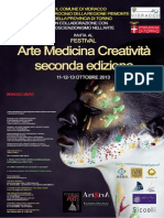"""Festival """"Arte Medicina Creatività"""" - 2° Edizione e concorso per artisti. Vidracco 11-12-13 Ottobre 2013 (Programma)"""