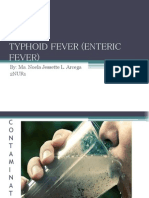 Typhoid Fever (Enteric Fever)