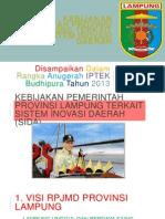 Kebijakan Provinsi Lampung Dalam Penguatan SIDA