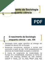 Aula 3 - O nascimento da Sociologia enquanto ciência - 2012