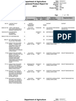 ES PROD Active products | Disinfectant | Herbicide