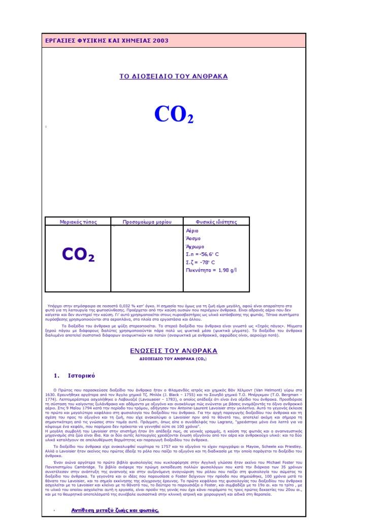 χρονολόγηση διοξειδίου του άνθρακα