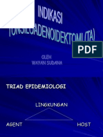 Indikasi Tonsiloadenoidektomi