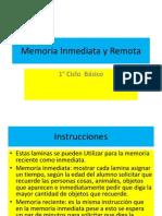 Memoria Inmediata y Remota 1° ciclo