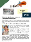 Mulher de Queimadas morre em acidente na PB 148 próximo a Boqueirão