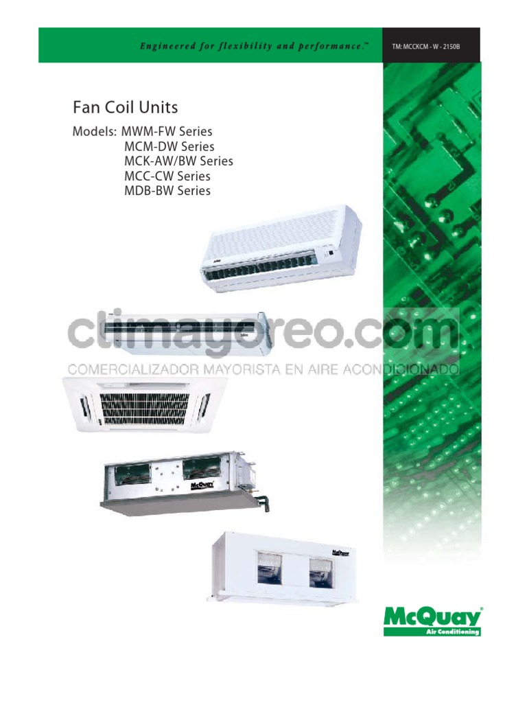 McQuay fan coil units | Air Conditioning | Hvac