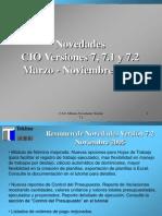 Curso CIO Novedades Version 72