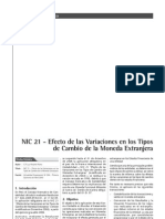 NIC 21 - Efecto de Las Variaciones en Los Tipos de Cambio