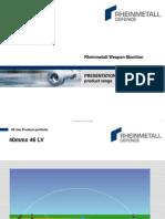 Presentation Rheinmetall Defence 40mm Product Range