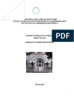 Politici Publice Sectoriale - Suport de Curs