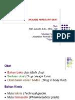 Analisis Kualitatif Obat Edisi Desember 2007 Variasi Warna