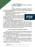 Cercetarea Etajelor Aperiodice de Amplificare in Tensiune Cu Rezistenta de Legatura de Tip Pasiva Si Activa (Dinamica)
