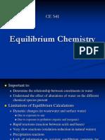 CE 541 - Equilibrium Chemistry